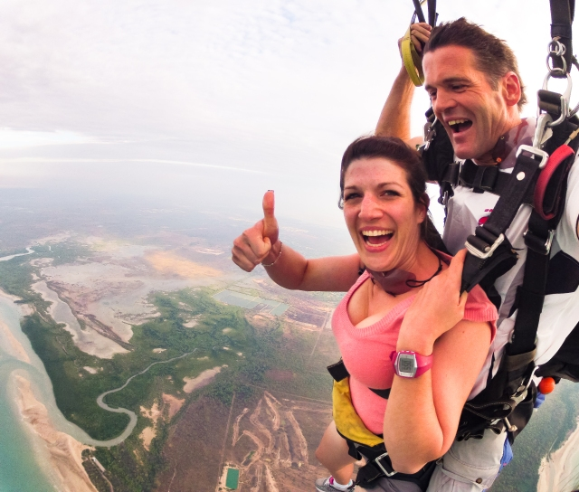 Tandem skydive with Top End Tandems