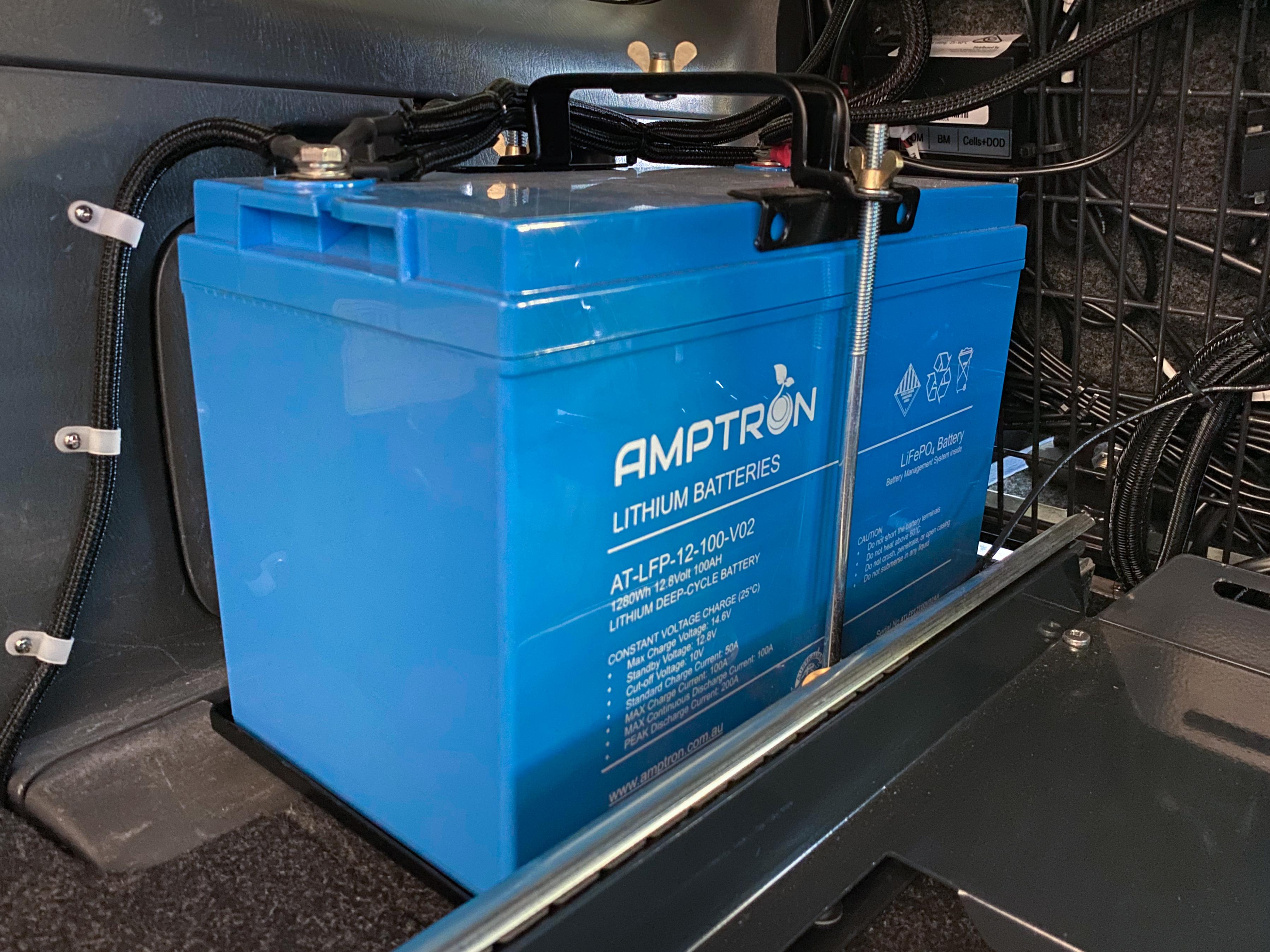 AMPTRON LiFePO4 Battery, 100aH, Prado
